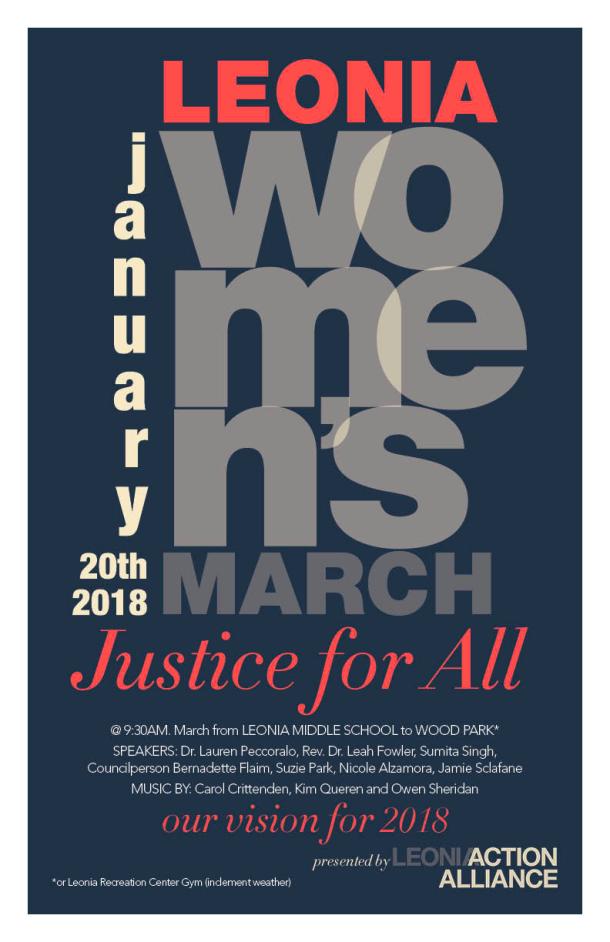 Leonia Womens March 2018